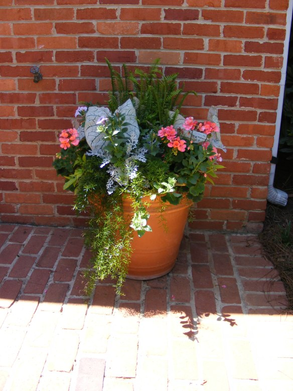 A colorful planter