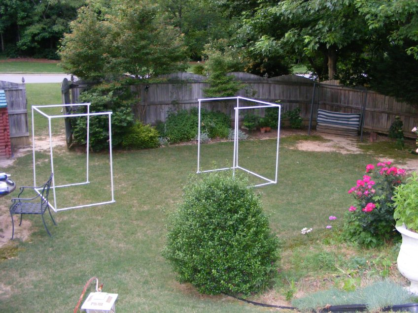 The unfinished fruit cage